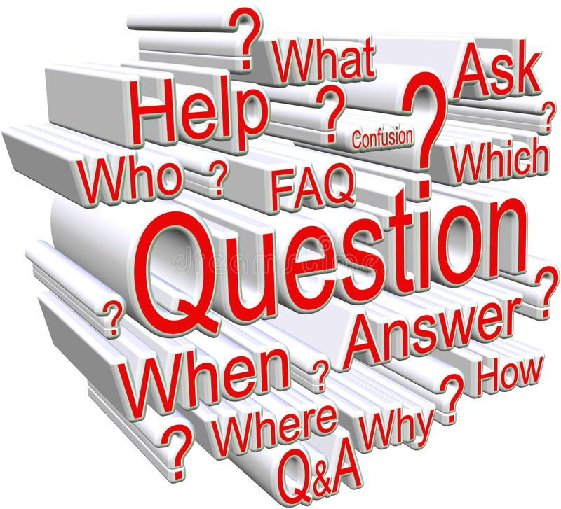 Download Question on white stock illustration. Illustration of confused - 28832038