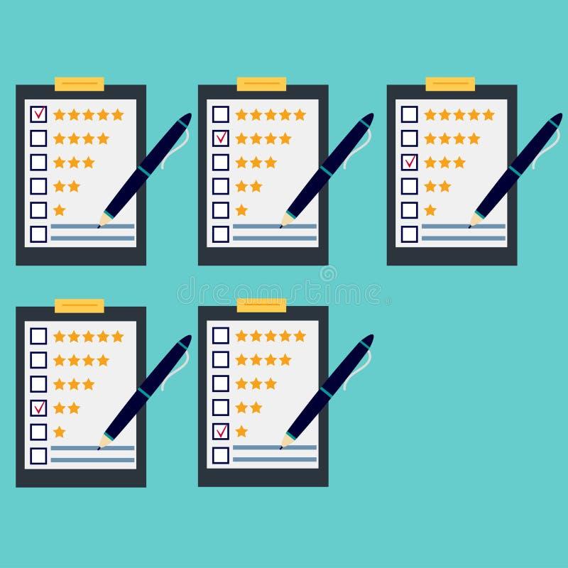 Questionario, feedback dei clienti, insieme royalty illustrazione gratis