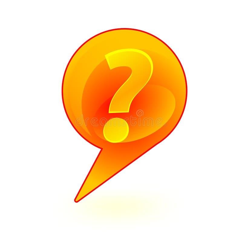 Questione a bolha do sinal ilustração royalty free