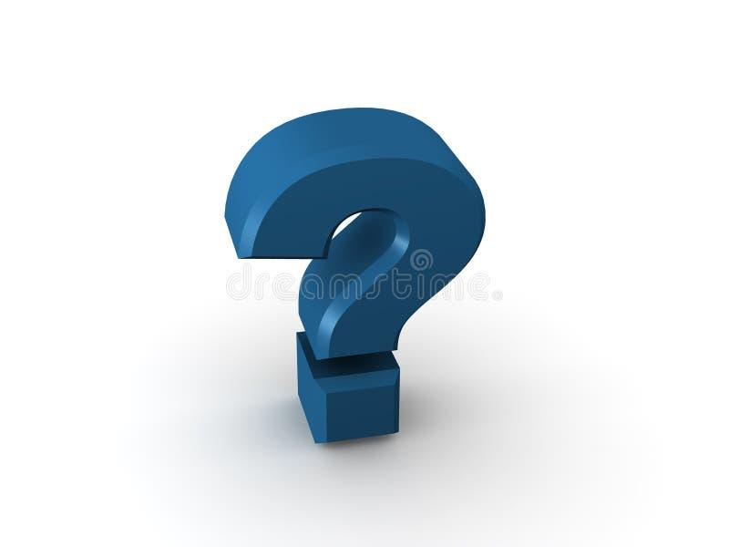 Questione o sinal ilustração royalty free