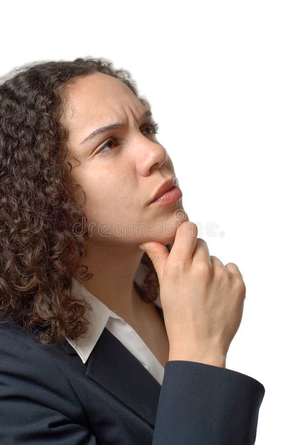 Download Questioning young woman stock image. Image of memory, uncertain - 5005299