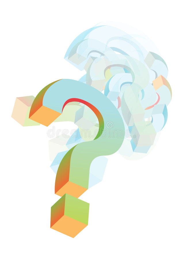 Questionmarks background royalty free illustration