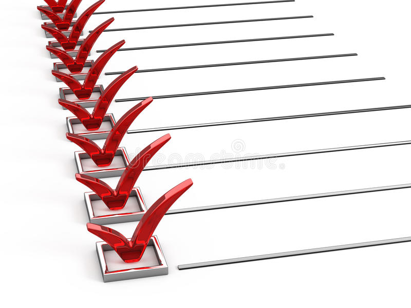 Questionnaire stock illustration