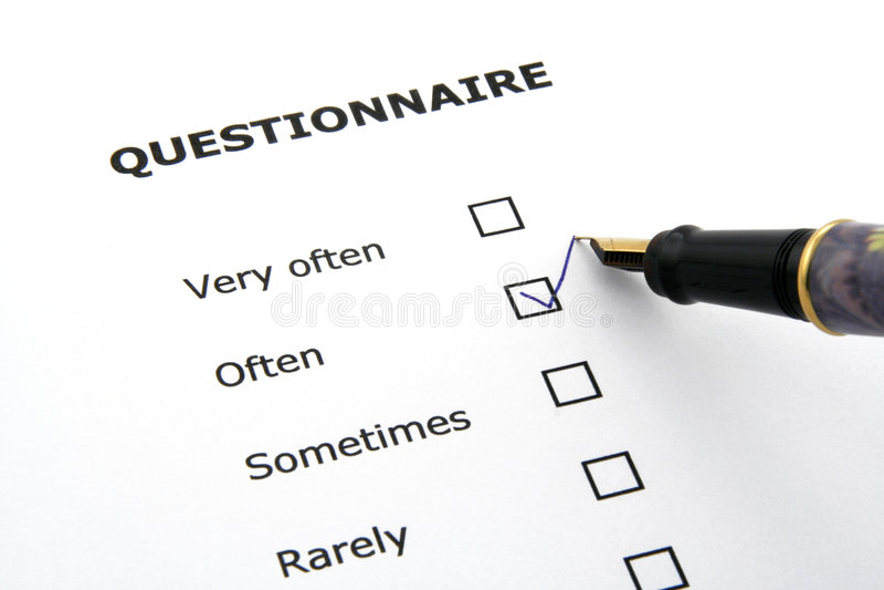 Questionnaire stock photos