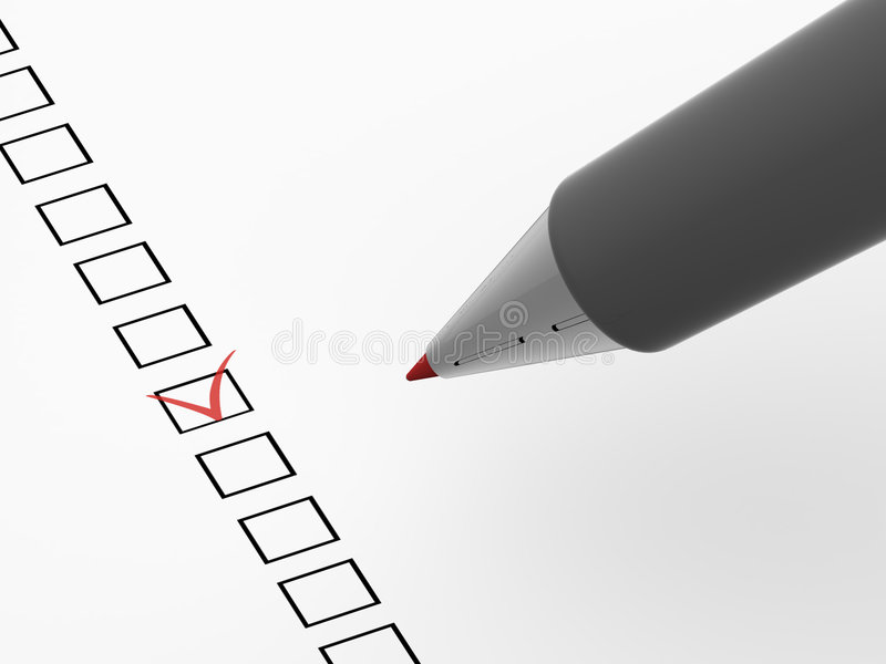 The questionnaire royalty free illustration