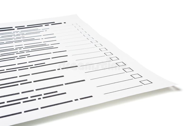 Questionnaire images libres de droits