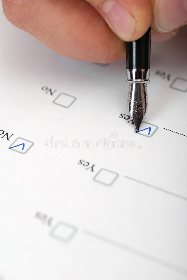 Questionnaire Close Up Stock Image