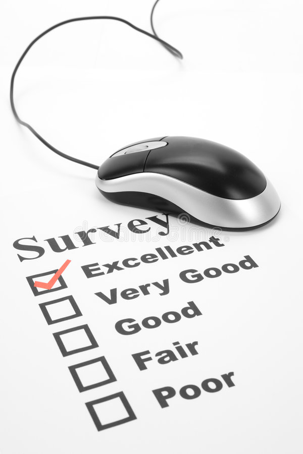 Download Questionnaire And Computer Mouse Stock Image - Image of test, results: 7343155