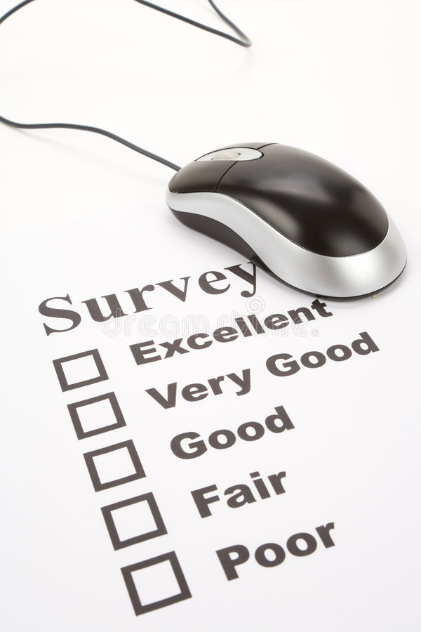 Download Questionnaire And Computer Mouse Stock Image - Image: 7462215