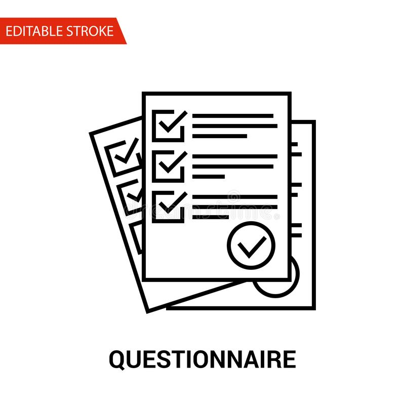Questionnaire Icon. Thin Line Vector Illustration vector illustration