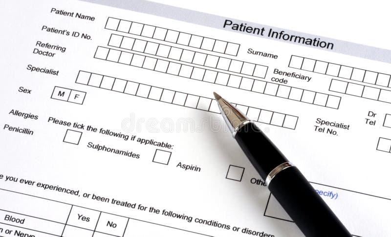 questionnaire médical photos stock