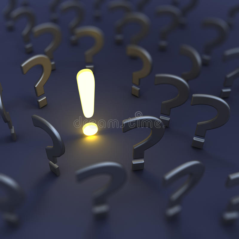 Questions and answer. 3d render image vector illustration
