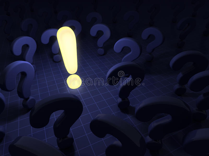 Questions and answer. 3d render stock illustration