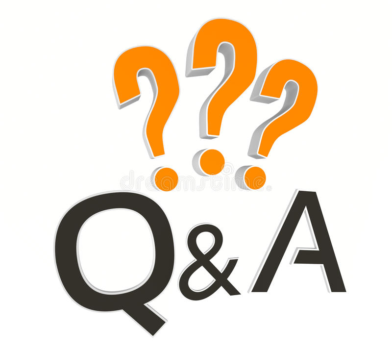 Questions and Answers stock illustration. Illustration of ...