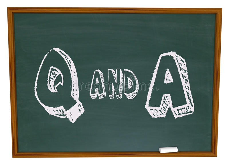 Download Questions And Answers - Chalkboard Stock Illustration - Illustration: 9518888