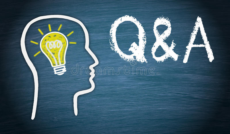 Questions and answers royalty free stock photo
