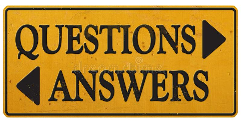 Questions & Answers Sign Business Communications Retro Office royalty free stock image