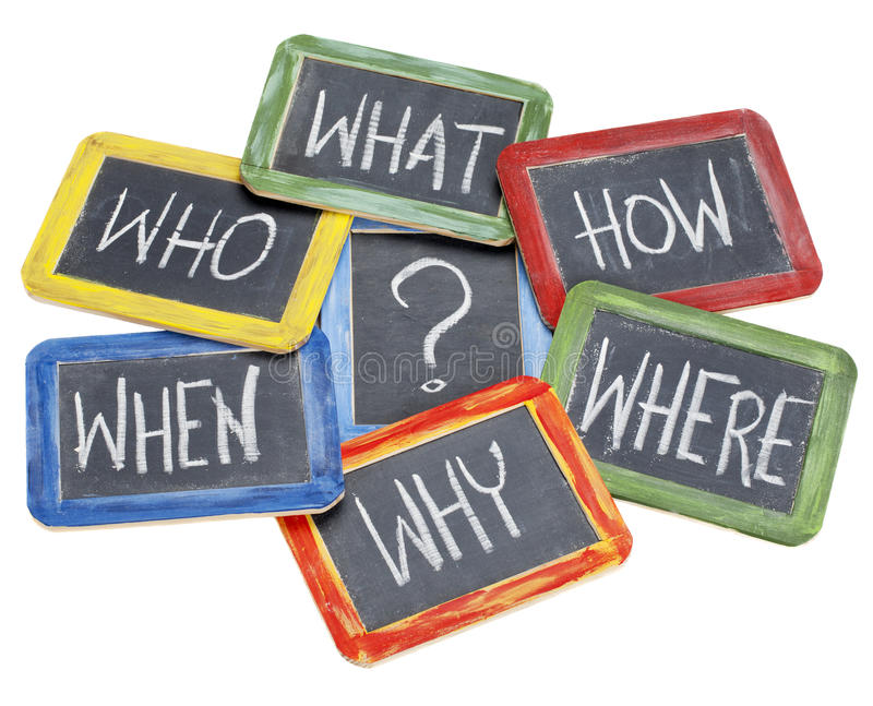 Questions, Brainstorming, Decision Making Stock Image