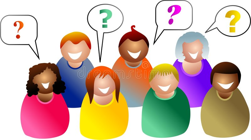 Questions de groupe illustration stock