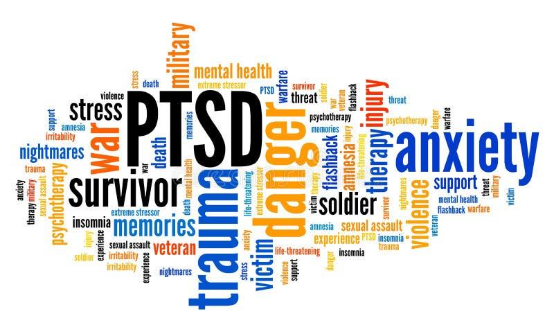 Questions de PTSD illustration stock