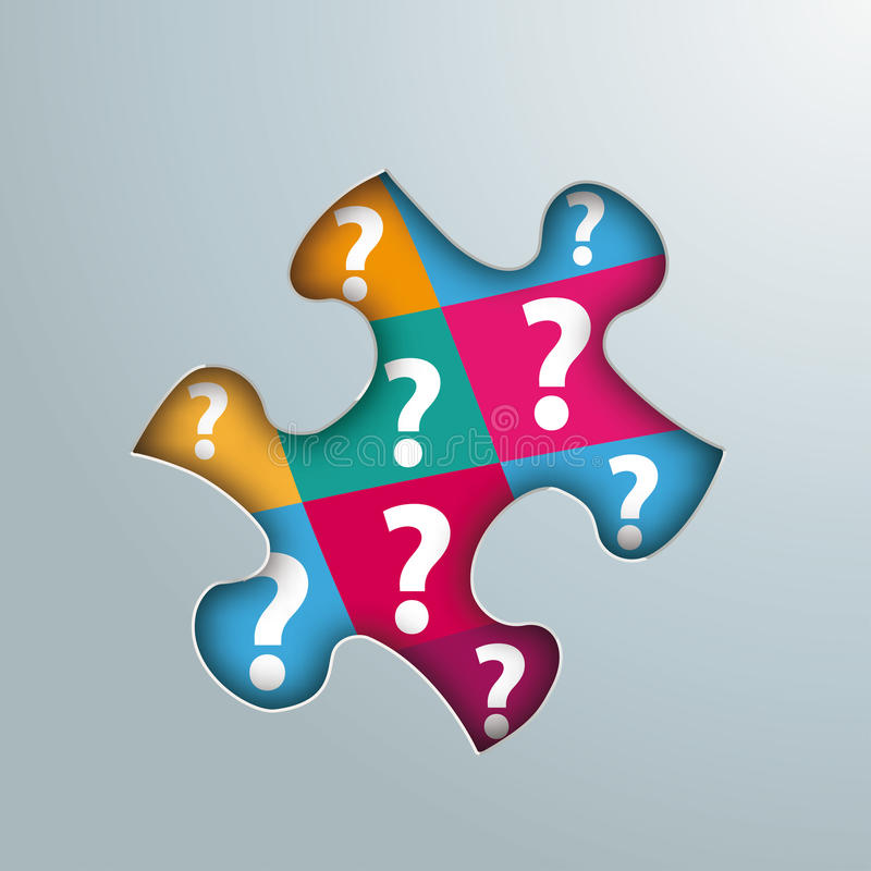 Questions de trou de puzzle illustration stock