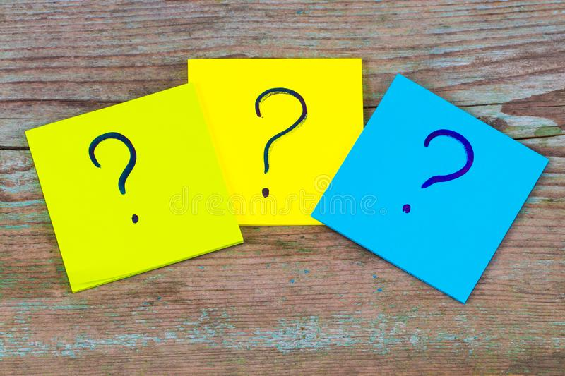 Questions, decision making or uncertainty concept - a pile of co royalty free stock image