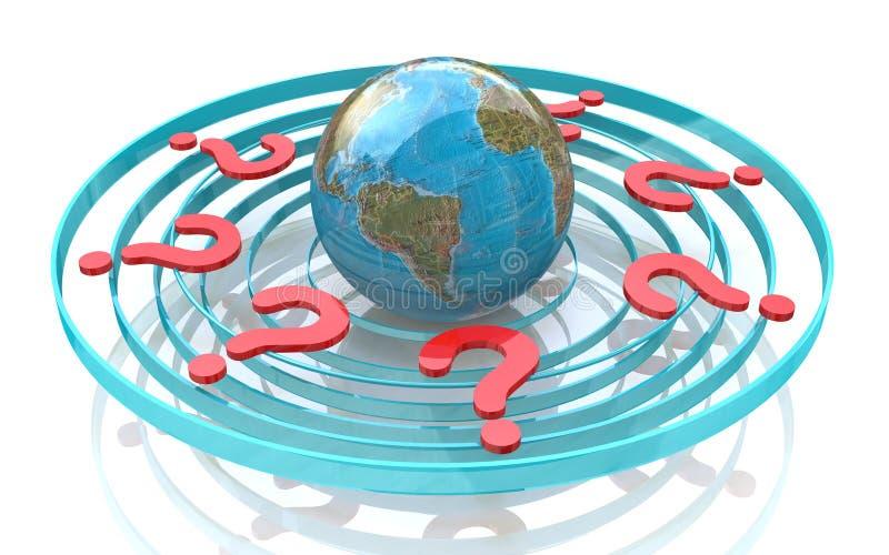 Questions globales illustration libre de droits