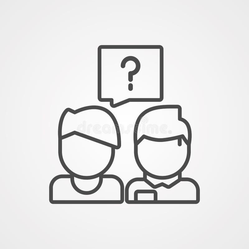 Questions vector icon sign symbol vector illustration