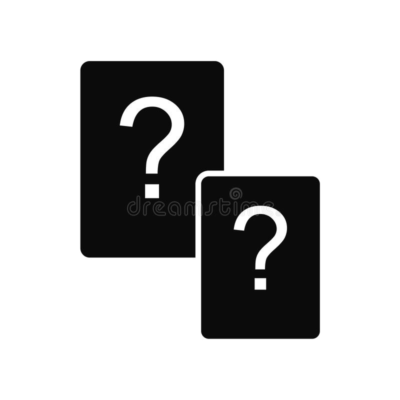 Questions icon vector isolated on white background, Questions sign , black symbols vector illustration