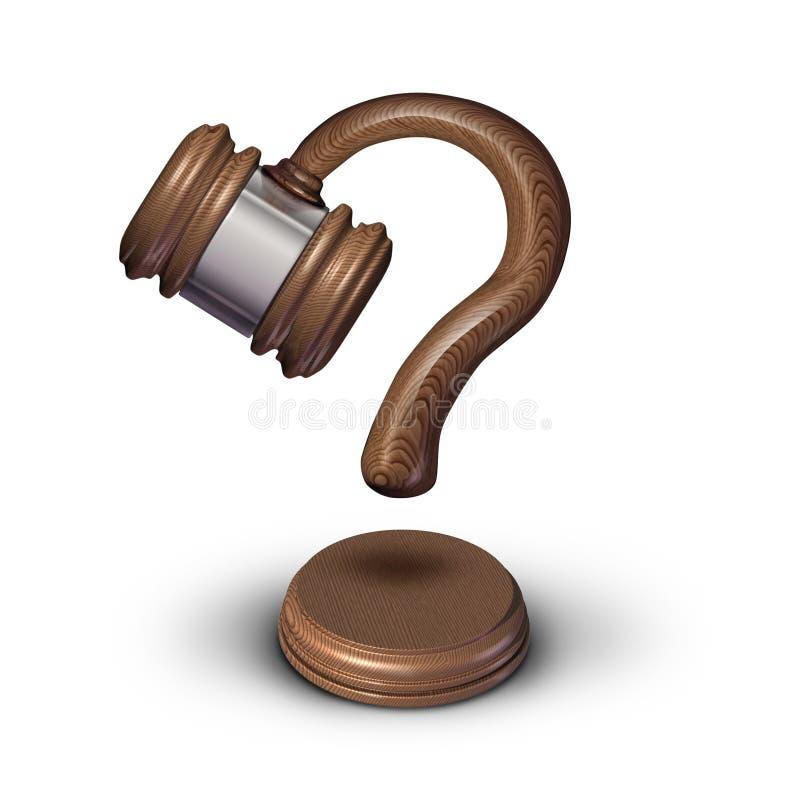 Questions juridiques illustration stock
