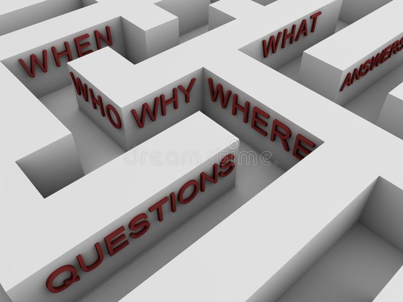 Questions - Maze Royalty Free Stock Photo