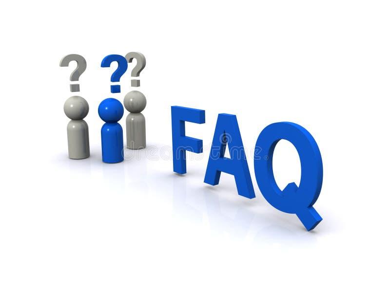 Questions souvent posées illustration de vecteur