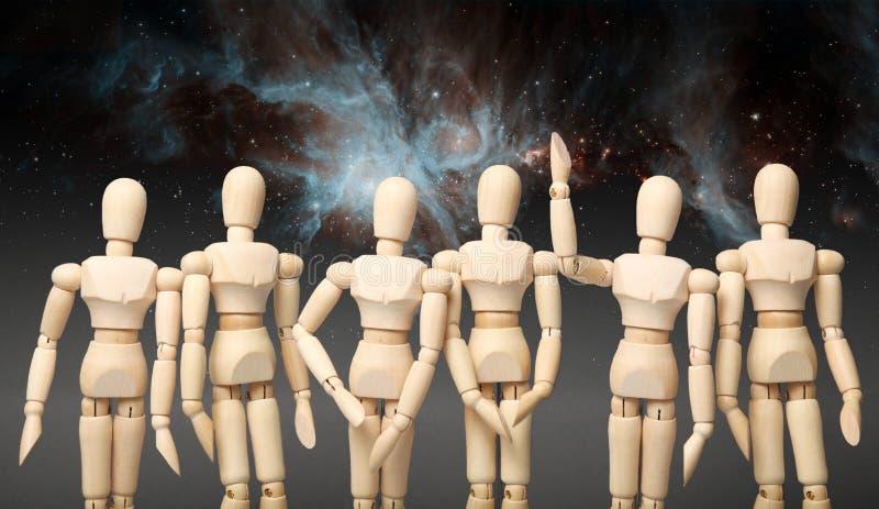 Questions sur le sujet de l'espace Poursuite des étoiles ?l?ments de cette image meubl?s par la NASA image libre de droits