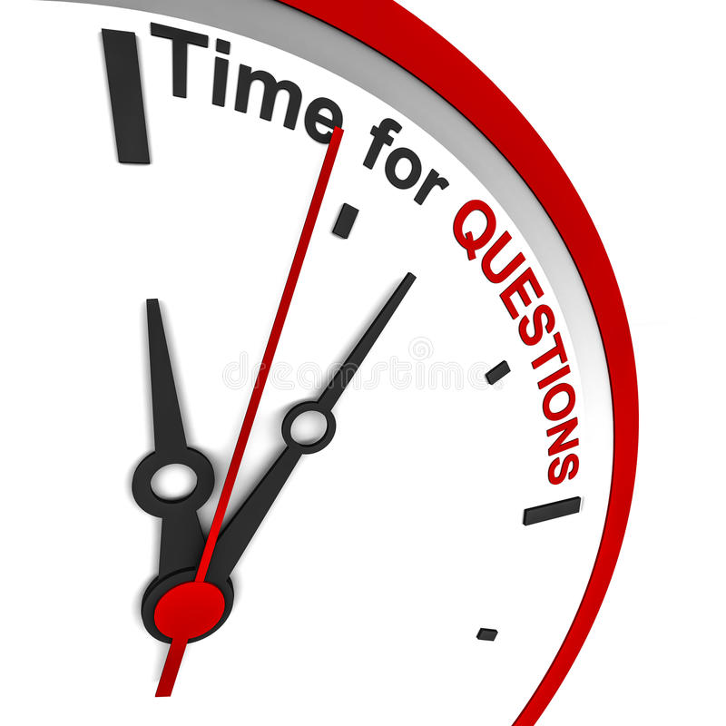 Questions time stock illustration