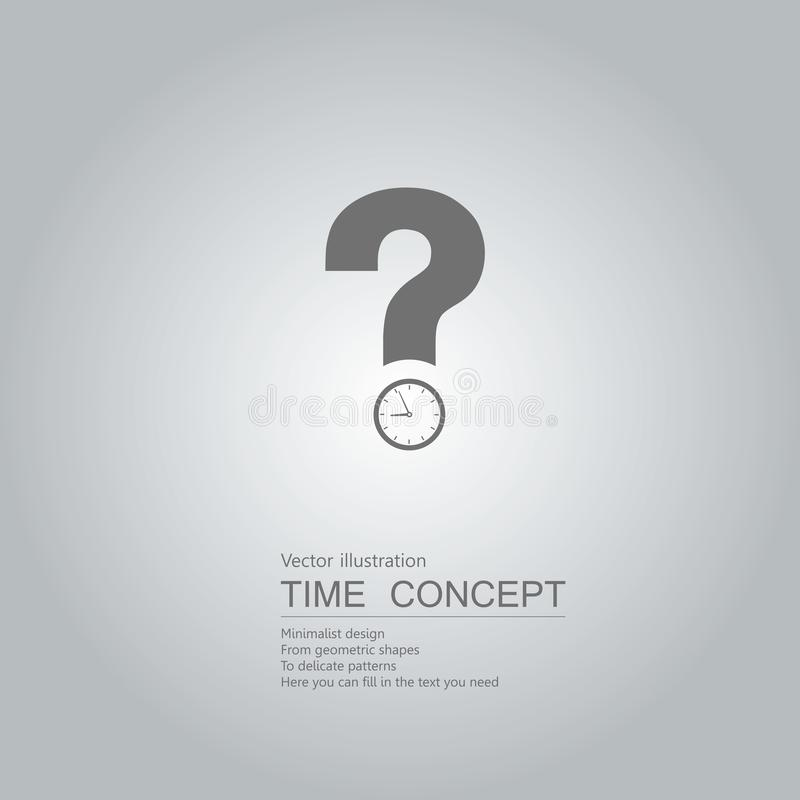 Questions about time. stock illustration