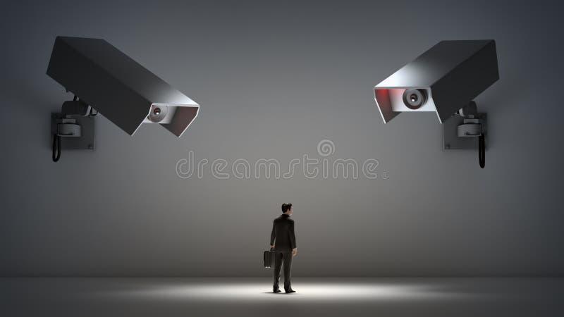 Questions visuelles de surveillance et d'intimité illustration stock
