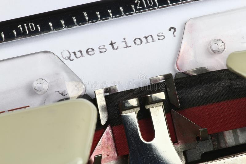 Questions? stock photo