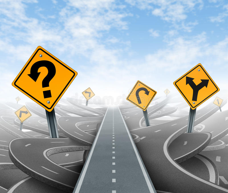 Questons y soluciones de la estrategia stock de ilustración