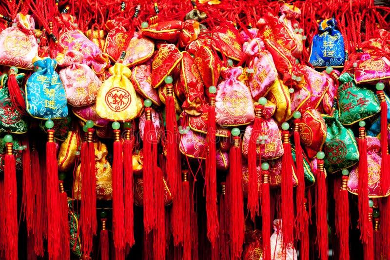 Quetschkissen in Jinli, Chengdu, Sichuan, China stockfoto