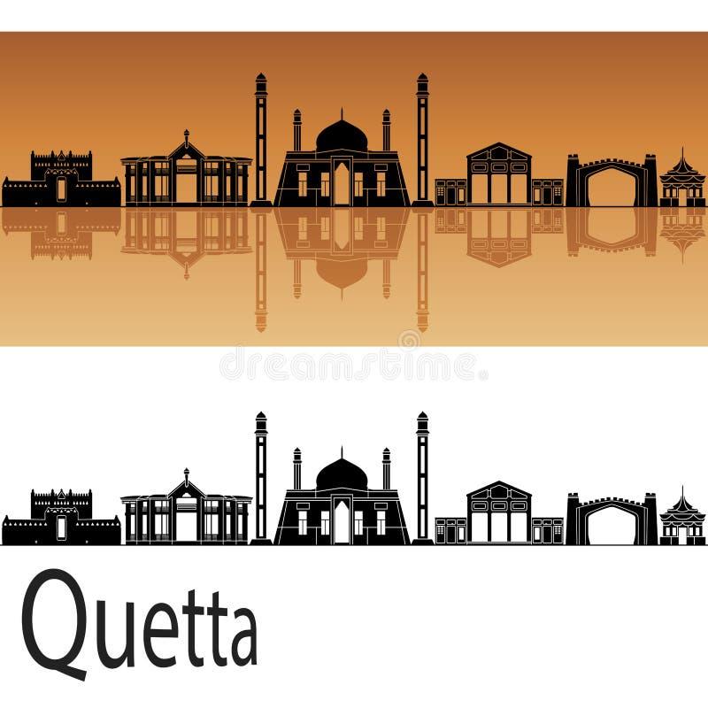 Quetta skyline in orange background. In vector file vector illustration
