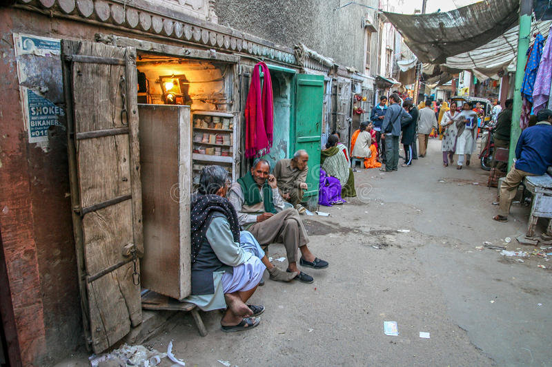 Quetta street scene. Small local shops in the back road in an old town in Quetta, Pakistan stock photos