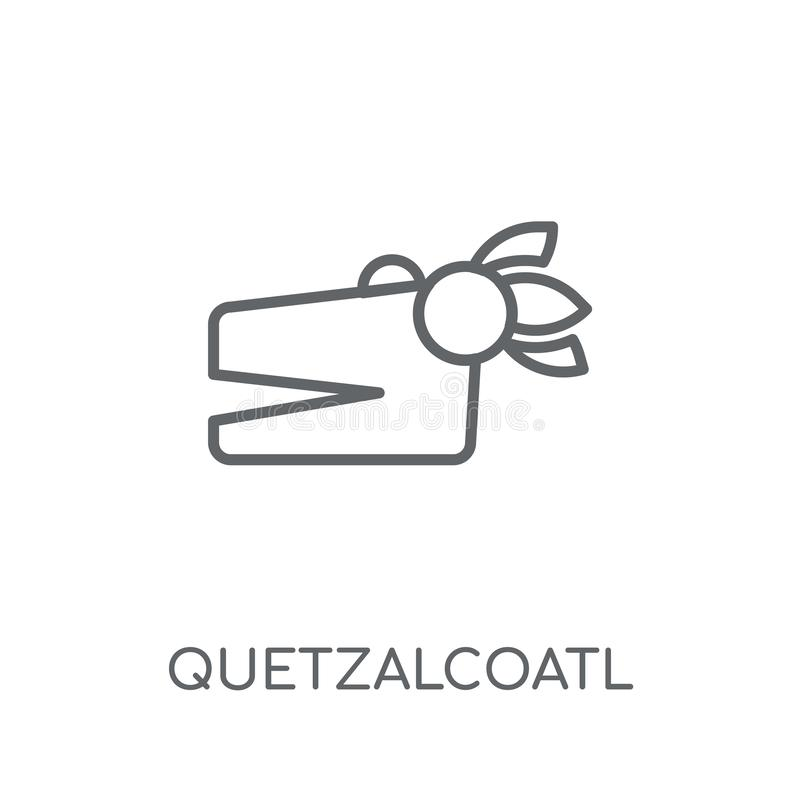 Quetzalcoatl线性象 现代概述Quetzalcoatl商标conce 库存例证