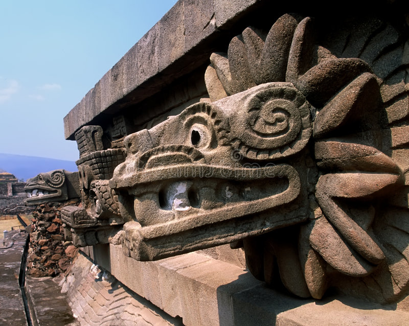 quetzalcoatl蛇 免版税库存照片