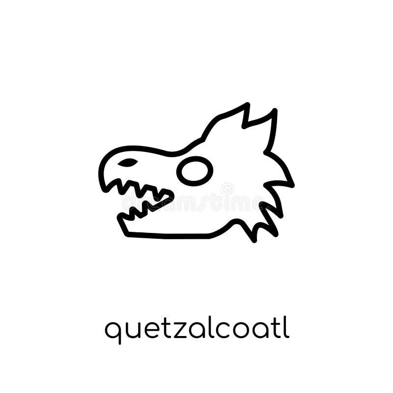 Quetzalcoatl象 时髦现代平的线性传染媒介Quetzalcoatl 向量例证