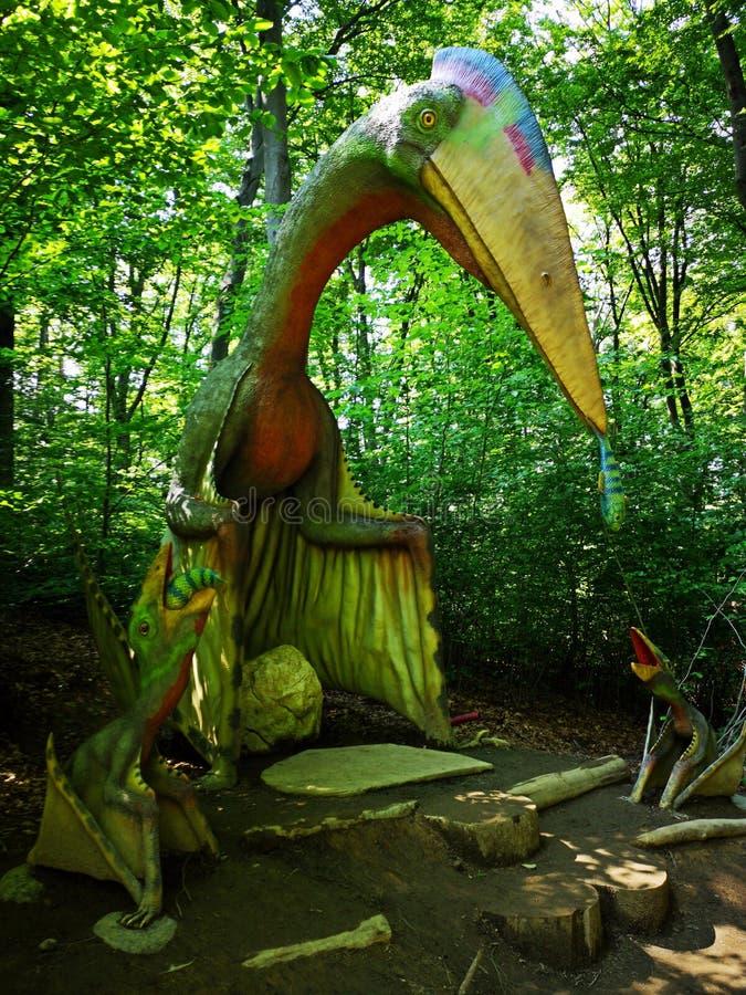 Quetzalcoatlus-Familie lizenzfreies stockbild