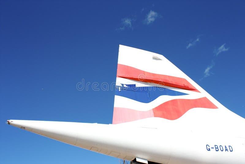 Queue de Concorde photo libre de droits