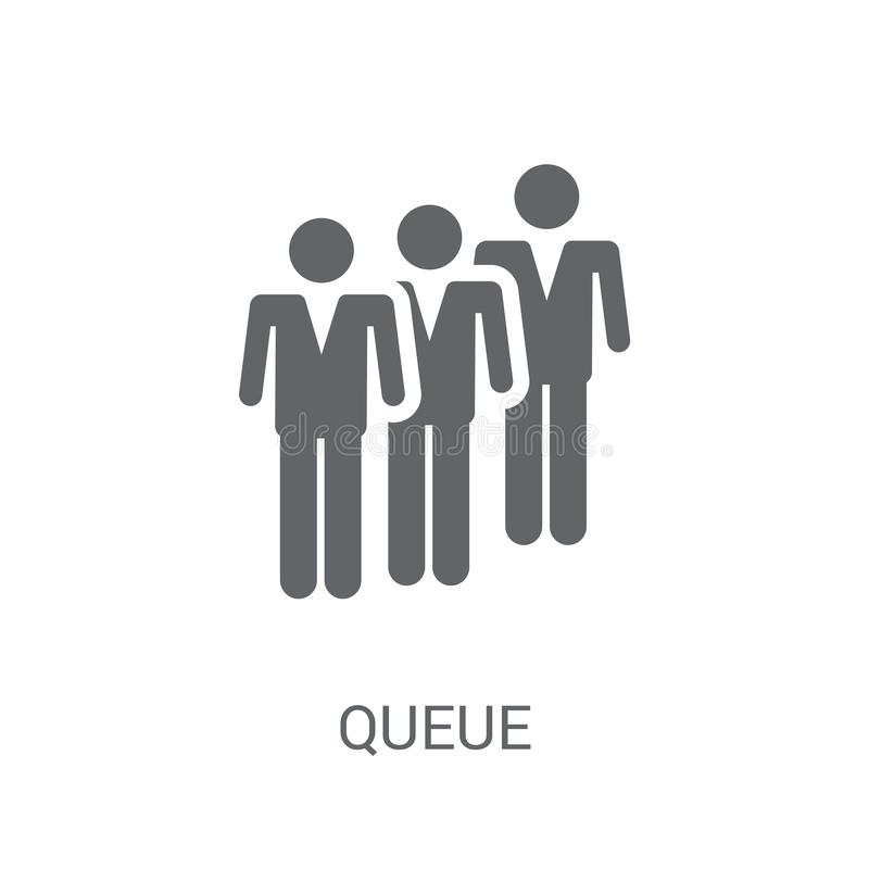 Queue icon. Trendy Queue logo concept on white background from B vector illustration