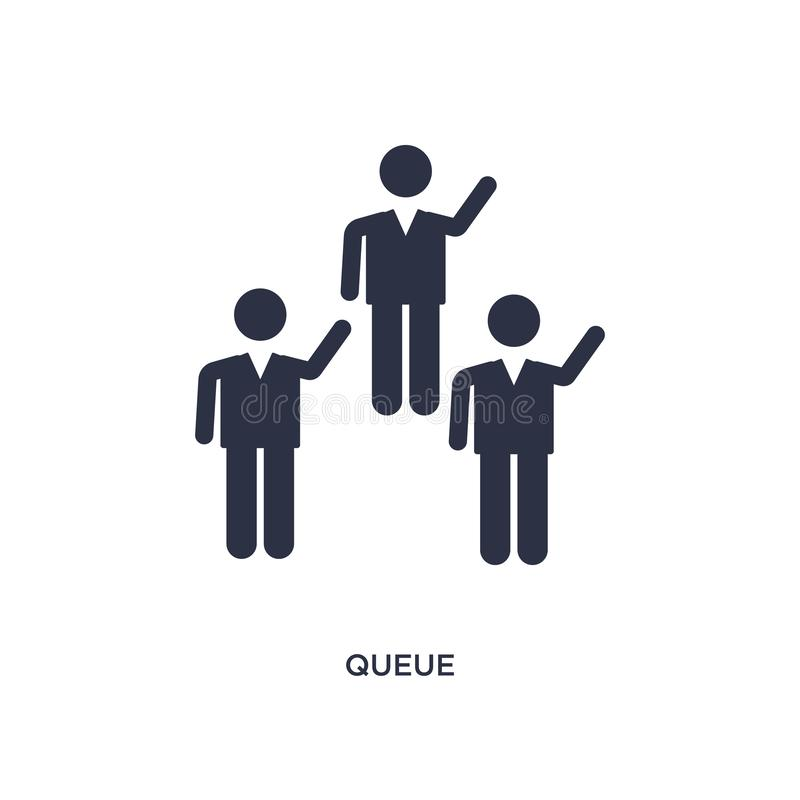 queue icon on white background. Simple element illustration from birthday party and wedding concept stock illustration