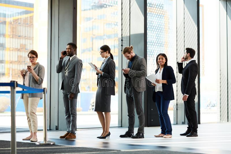 Queue in lounge royalty free stock photo