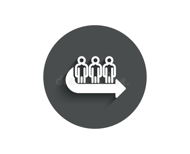 Queue simple icon. People waiting sign. royalty free illustration